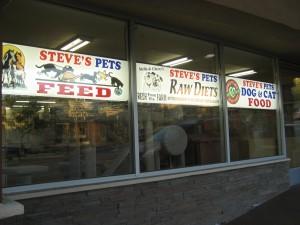 Steve's Pets front window